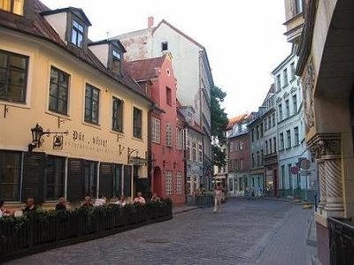 Riga - Typical Alleyway Street